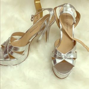 Silver Chinese laundry platform heels ! Size - 11